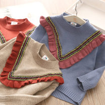 Sweater / sweater 150cm,140cm,130cm,120cm,110cm,100cm,90cm other female Camel, blue, brownish red Shell element Korean version No model Socket routine Crew neck nothing other my1533 Class B 14, 13, 12, 11, 10, 9, 8, 7, 6, 5, 4, 3, 2 years old