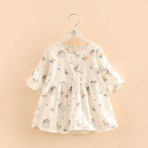 T-shirt white Shell element 90cm,100cm,110cm,120cm,130cm,140cm female summer Korean version No model nothing tx8615 2, 3, 4, 5, 6, 7, 8, 9, 10, 11, 12, 13, 14 years old