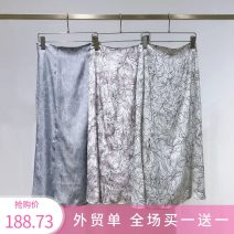 skirt Spring 2020 S. M, foreign trade order Purple, white, sky blue Mid length dress Versatile High waist skirt Decor Type H 25-29 years old Z258 51% (inclusive) - 70% (inclusive) Chiffon Meiai apricot Cellulose acetate printing