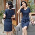 Dress Spring of 2019 S,M,L,XL,2XL,3XL,4XL Short skirt singleton  Short sleeve commute Crew neck middle-waisted Solid color zipper A-line skirt other Others 25-29 years old Type H Ol style 31% (inclusive) - 50% (inclusive) other cotton
