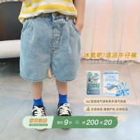 trousers ivan male 80, 90, 100, 110, 120, 130, 140, 150 Blue, in stock summer shorts leisure time There are models in the real shooting Casual pants middle-waisted cotton Other 100% Chinese Mainland