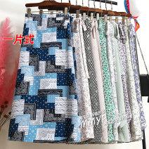skirt Lace up, asymmetric, printed other Summer 2021 Medium length skirt Irregular High waist Broken flower commute Type A other Korean version One size fits all