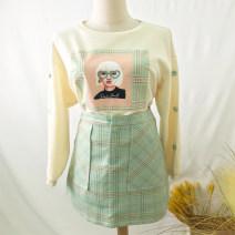 Fashion suit Spring 2021 S,M,L,XL,XXL Hami melon color, gouache green 25-35 years old 81% (inclusive) - 90% (inclusive)