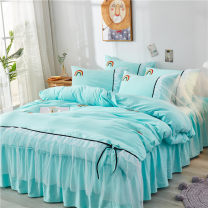 Bedding Set / four piece set / multi piece set Others Embroidering with cloth Cartoon animation 128x68 Jroye / jinluyi Others 4 pieces 40 Rainbow white yarn white rainbow white yarn pink rainbow white yarn grey rainbow white yarn blue rainbow white yarn purple MJX011