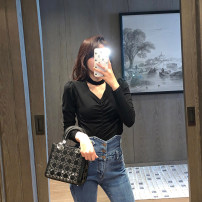 Women's large Spring 2021 black Large, 3XL, 4XL, large Knitwear / cardigan singleton  commute Self cultivation moderate Socket Long sleeves Solid color Korean version V-neck routine Three dimensional cutting routine S5891 Mr. Zhang 25-29 years old