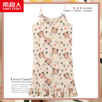 Nightdress NGGGN NJR-y7022,NJR-y7023,NJR-y7024,NJR-y7025,NJR-y7026,NJR-y7027,NJR-y7028,NJR-y7029,NJR-y7034,NJR-y7045,NJR-y7046,NJR-y7047,NJR-y7048,NJR-y7049,NJR-y7050 M,L,XL,XXL,XXXL,4XL,5XL Sweet camisole Leisure home Middle-skirt summer Geometric pattern youth V-neck cotton printing More than 95%