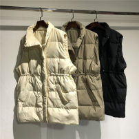 Down Jackets Spring 2021 Cartiland Off white, black, khaki S, M White duck down 90% Medium length Sleeveless routine zipper stand collar other Self cultivation 100g (including) - 150g (excluding) 18-24 years old 96% and above polyester