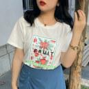 Women's large Summer 2021 White Pink Blue (4.13 shipment) white spot pink spot blue spot L [suitable for 100-120 kg] XL [suitable for 120-140 kg] 2XL [suitable for 140-155 kg] 3XL [suitable for 155-175 kg] 4XL [suitable for 175-185 kg] 5XL [suitable for 185-205 kg] T-shirt singleton  commute easy