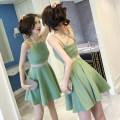 Dress Summer 2020 Green, black S,M,L,XL Middle-skirt singleton  commute High waist zipper A-line skirt 25-29 years old Type A Other / other zipper