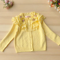 Sweater / sweater 7 recommended height 100, 9 recommended height 110, 11 recommended height 120, 13 recommended height 130, 15 recommended height 140, 17 recommended height 150, 19 recommended height 160 cotton female Yellow, pink Red and green fruit princess No model Single breasted routine nothing