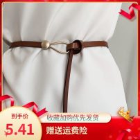 Belt / belt / chain Double skin leather A86 Black Leather knotted belt, S22 Brown Leather knotted belt, K52 dark brown leather knotted belt, M30 Camel Leather knotted belt, i45 white leather knotted belt currency belt leisure time a hook alloy alone Other / other H38367 1cm
