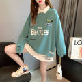 Sweater / sweater Spring 2021 Rose, white, green, blue M suggests below 110 kg, l 110-125, XL 125-140, 2XL 140-160 Long sleeves Medium length Socket singleton  routine Crew neck commute routine 30% and below Other / other Korean version