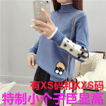 sweater Winter 2020 One size fits all, XXS, XS Khaki, white, blue, yellow Long sleeves Socket singleton  have cash less than that is registered in the accounts other 95% and above Half high collar thickening commute other other Self cultivation 18-24 years old Zhenyaluo