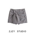 Casual pants Nude / Black XS,S,M,L Spring 2021 shorts High waist