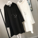 Sweater / sweater Spring 2020 White, gray, black, pink Average size Long sleeves have more cash than can be accounted for Socket singleton  routine Hood easy commute routine letter 96% and above Code tide Korean version cotton dmc8732 Pocket, print, thread cotton Cotton liner