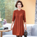 Middle aged and old women's wear Autumn of 2018, winter of 2018 Green, gray, Navy, Burgundy, red, black, Burgundy, black, black 1, caramel fashion sweater easy singleton  Solid color 40-49 years old Socket thick Half high collar Medium length routine 17SSY1210 71% (inclusive) - 80% (inclusive) other
