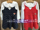 Dress Red skirt without inside female Other / other 105cm,110cm,120cm,130cm,140cm Cotton 100% cotton Skirt / vest Two, three, four, five, six, seven, eight, nine