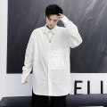 shirt Youth fashion Others M,L,XL,2XL white routine square neck Long sleeves easy Other leisure Four seasons youth Cotton 100% tide Solid color