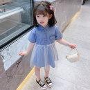 Dress blue female Mikir / mikir 80cm 90cm 100cm 110cm 120cm 130cm Cotton 95% other 5% summer Korean version Short sleeve Solid color cotton A-line skirt MXMYX05 Class A Summer 2021 3 months 12 months 6 months 9 months 18 months 2 years 3 years 4 years 5 years 6 years Chinese Mainland Jiangsu Province