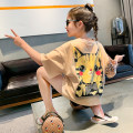 T-shirt Princess Yuanyuan 110cm 120cm 130cm 140cm 150cm 160cm 165cm female summer Short sleeve Crew neck Korean version There are models in the real shooting nothing other Solid color Other 100% Class B Summer 2020 Chinese Mainland