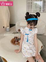 Dress white female Princess Yuanyuan 110cm 120cm 130cm 140cm 150cm 160cm Cotton 100% cotton A-line skirt Class B Spring 2021 2 years old, 3 years old, 4 years old, 5 years old, 6 years old, 7 years old, 8 years old, 9 years old, 10 years old, 12 years old, 13 years old, 14 years old Chinese Mainland