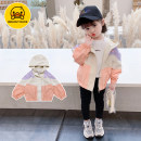 Plain coat Little elk Tang female 90cm 100cm 110cm 120cm 130cm 140cm Violet Pink spring and autumn Korean version Zipper shirt There are models in the real shooting routine nothing Solid color other other XLXP2169-1 Other 100% Class B