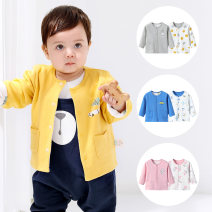 Plain coat Soft cotton male 73cm 80cm 90cm 100cm 110cm 120cm Sapphire Blue Orange Flower gray olive green spring and autumn Cartoon Single breasted There are models in the real shooting routine nothing Cartoon animation Pure cotton (100% cotton content) Crew neck MF6302511-1-1 Cotton 100% Class A