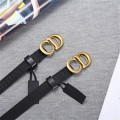 Belt / belt / chain canvas 2.0 fabric pattern female belt Versatile Single loop Youth, youth Smooth button letter printing 2.0cm alloy letter 90cm,95cm,100cm,105cm,110cm,115cm
