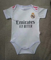 Football clothes Real Madrid home baby dress 1, name and number leave word XXXS,XXS children N98 Short sleeve football suit