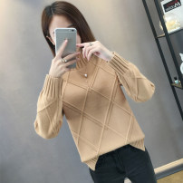 sweater Winter of 2018 S M L XL Black Khaki light coffee beige Tuhuang orange blue gray Long sleeves Socket singleton  Regular other 95% and above High collar thickening commute routine Solid color Straight cylinder Keep warm and warm 18-24 years old Qainfuli / xianfuli QFL-018Q627 Other 100%