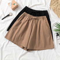 Women's large Summer of 2019 Black, camel XL recommends 100-130 kg, 2XL 130-150 kg, 3XL 150-175 kg, 4XL 175-200 kg trousers thin shorts