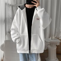 Sweater Youth fashion Neway White red light green S M L XL Geometric pattern Cardigan routine Hood spring easy leisure time teenagers tide Off shoulder sleeve NA-QA19004 Cotton 55% polyester 45% cotton badge No iron treatment Spring 2021 50% (inclusive) - 69% (inclusive) Save pocket simple style