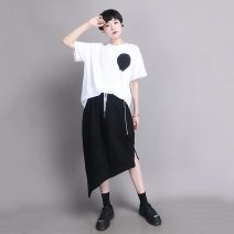 skirt Spring 2021 S M L black longuette commute Natural waist A-line skirt Solid color Type O 30-34 years old 91% (inclusive) - 95% (inclusive) knitting UU.MP cotton pocket Simplicity Cotton 95% polyurethane elastic fiber (spandex) 5% Pure e-commerce (online only)