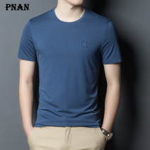 T-shirt Youth fashion thin M L XL XXL 3XL 4XL PNAN Short sleeve Crew neck standard Other leisure summer youth routine tide Knitted fabric Spring 2021 Solid color Cityscape No iron treatment Fashion brand Pure e-commerce (online only)