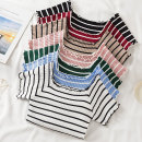 Wool knitwear Summer 2020 Average size White, black, red, green, khaki, blue, pink Socket other 31% (inclusive) - 50% (inclusive) stripe Socket
