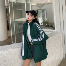 Women's large Autumn 2020, winter 2020 Black, dark green 40: Suitable for 125 ~ 145 kg, 2XL: suitable for 145 ~ 165 kg, 3XL: suitable for 165 ~ 190 kg, 4XL: suitable for 190 ~ 215 kg, 5XL: suitable for 220 ~ 250 kg, 6xl: suitable for 250 ~ 300 kg, customized more than 300 kg Knitwear / cardigan easy