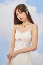Dress Spring 2021 Lace Floral suspender skirt (in stock), second batch pre-sale - 20 working days delivery S,M,L Short skirt singleton  Sleeveless commute square neck High waist Broken flowers zipper other other camisole 18-24 years old Type A Egg laying meow Retro 21S207 Lace