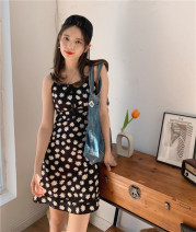 Dress Summer 2020 Shuiyuan huazi S,M,L Short skirt singleton  Sleeveless commute other High waist Broken flowers zipper A-line skirt other camisole 18-24 years old Type A Egg laying meow Retro BS-A1176 81% (inclusive) - 90% (inclusive) other other