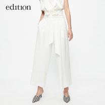 Casual pants This is white and black XS/155 S/160 M/165 L/170 xl/175 Summer of 2019 Ninth pants Wide leg pants High waist 25-29 years old EAI2PAT034 edition Acetate (acetate) 77.9% polyester 22.1% Same model in shopping mall (sold online and offline)