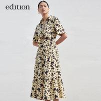 Dress Summer 2021 Artistic flower color XS/155 S/160 M/165 L/170 XL/175 longuette 25-29 years old edition EBA2DRS033 More than 95% cotton Cotton 100% Same model in shopping mall (sold online and offline)