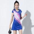 Badminton wear Women's blue female XXL,XL,L,M,S Tianyu Jianlong Football suit 1666 blue dress