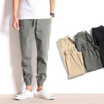 Casual pants Outstander / Mr. Kirin Youth fashion Grey green, black, khaki S,M,L,XL,2XL routine trousers Other leisure Self cultivation Micro bomb autumn teenagers tide middle-waisted Little feet Tapered pants washing Solid color plain cloth cotton Fashion brand
