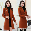 woolen coat Winter of 2018 M,L,XL,2XL,3XL Red, army green, caramel, red with cotton, caramel with cotton, army green with cotton polyester 31% (inclusive) - 50% (inclusive) routine Long sleeves Sweet A button routine square neck Solid color Self cultivation Other / other 35-39 years old Solid color