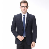 man 's suit As shown in the picture Others Business gentleman routine 170/46,175/48,180/50,185/52,190/54 94-5333 standard Two double breasted Other leisure No slits middle age Long sleeves winter routine Business Formal  Casual clothes Round hem stripe 2020 other other badge
