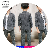 Suit / Blazer 110cm 120cm 130cm 140cm 150cm 160cm Noble figure male There are models in the real shooting Britain spring and autumn lattice Single breasted routine Cotton blended fabric Class B Other 100% Winter of 2019 3 months