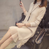 sweater Winter of 2018 S M L XL Long sleeves Socket singleton  Medium length other 95% and above Half high collar thickening commute routine Solid color Straight cylinder Regular wool Keep warm and warm 25-29 years old Bei Xueli Other 100% Pure e-commerce (online only)