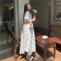 Fashion suit Summer 2021 Average size Flower vest skirt 6216, white bubble sleeve dress 6217 18-25 years old 31% (inclusive) - 50% (inclusive)