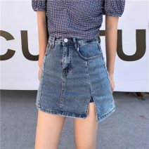 skirt Summer 2021 S (90-100kg), m (100-110kg), l (110-120kg) blue Short skirt commute High waist A-line skirt Solid color Type A 18-24 years old 31% (inclusive) - 50% (inclusive) other cotton Korean version 301g / m ^ 2 (including) - 350g / m ^ 2 (including)