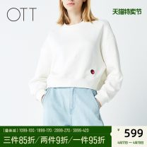 Sweater / sweater Spring of 2019 Ca02 Chen benbai S M L Long sleeves routine Socket singleton  Crew neck easy commute Solid color 35-39 years old 96% and above OTT Simplicity cotton OS1910100103 Cotton 100% Same model in shopping mall (sold online and offline)