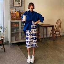 Outdoor casual suit Tagkita / she and others female Under 50 yuan seventy point zero five Average size White and blue words, collection plus purchase priority delivery Summer 2020